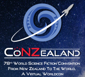 Logo for ConZealand, the 78th World Science Fiction Convention